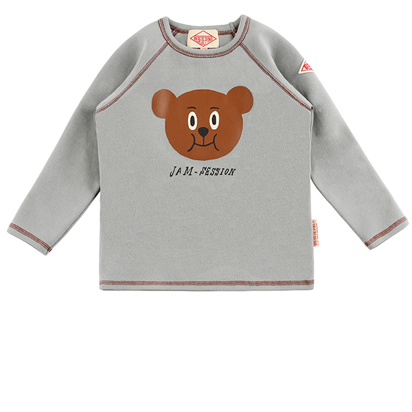 Willy bear raglan long sleeve tee