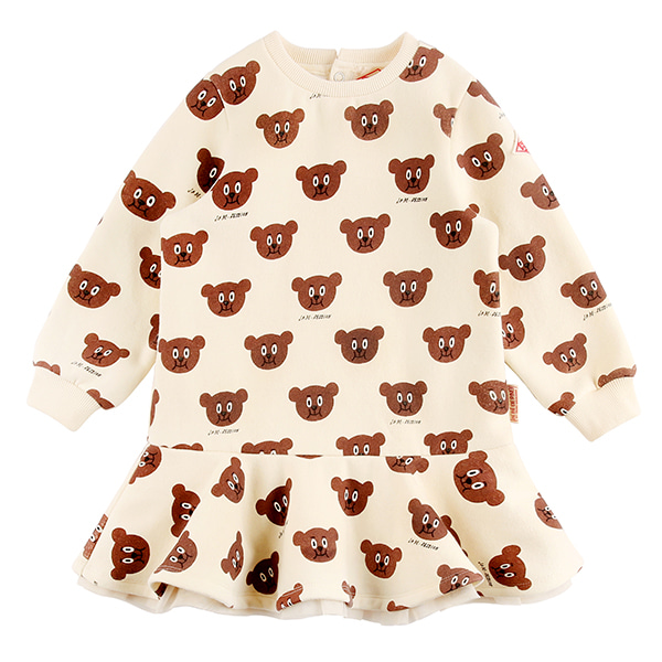 Multi willy bear tulle sweat dress