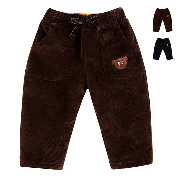 Corduroy baby winter pants