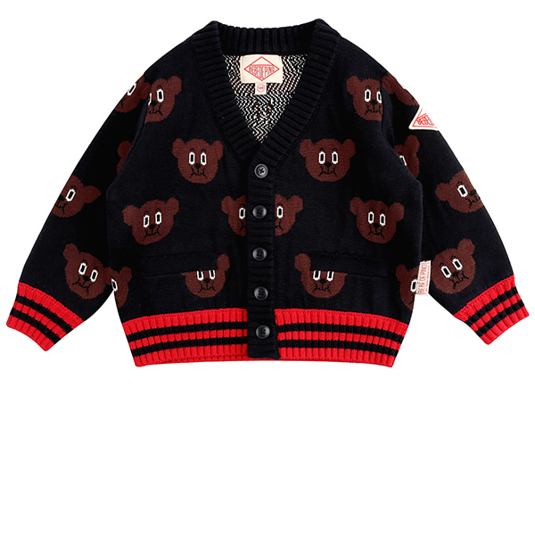 Multi willy bear sweater cardigan