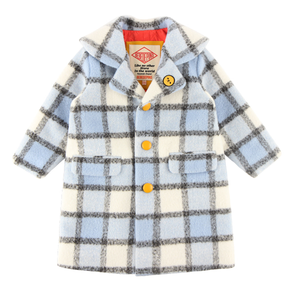 Smile grid check wool coat  NEW WINTER