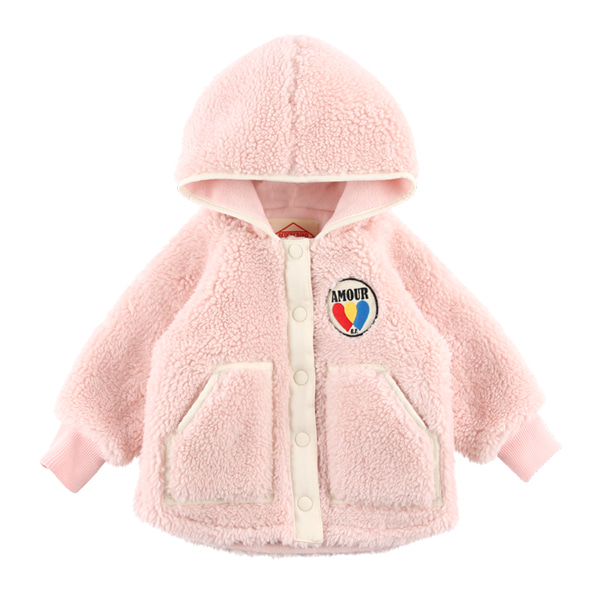 Amour baby dumble fur hood jacket