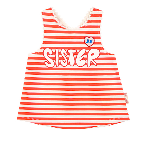 Sister stripe lace tank top  NEW SUMMER