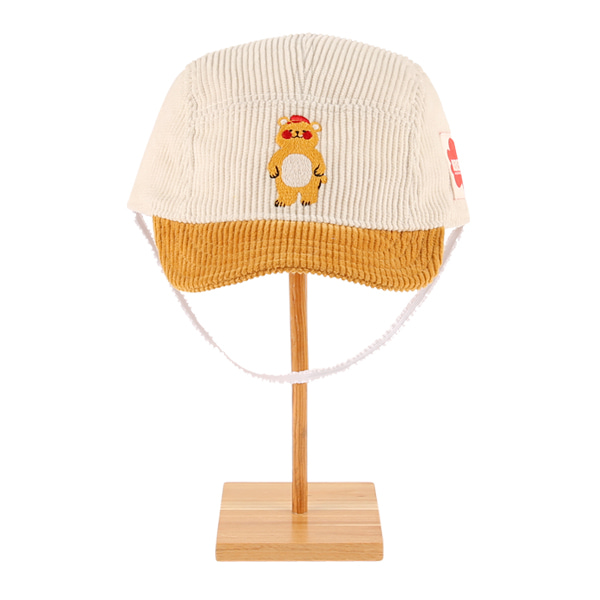 Bear baby corduroy camp cap  NEW FALL