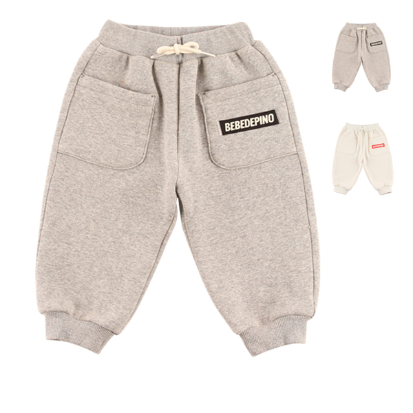 Basic baby mink fur sweatpants