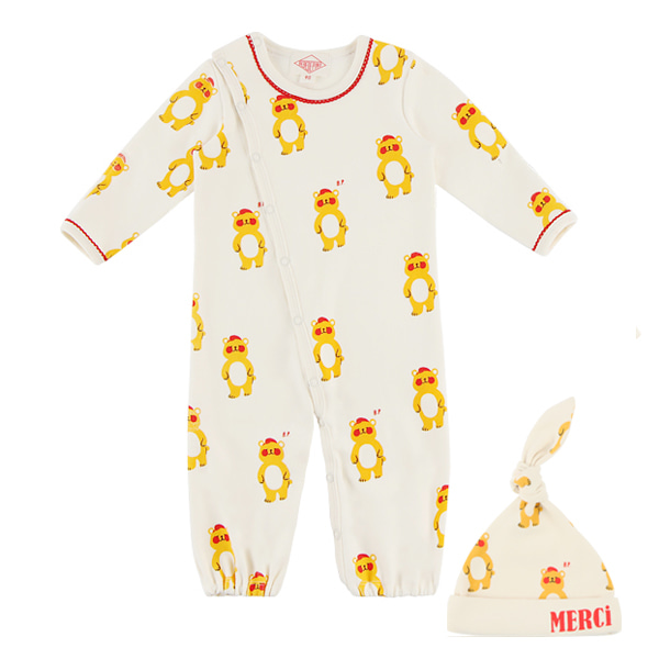 Newborn multi bear overall set
