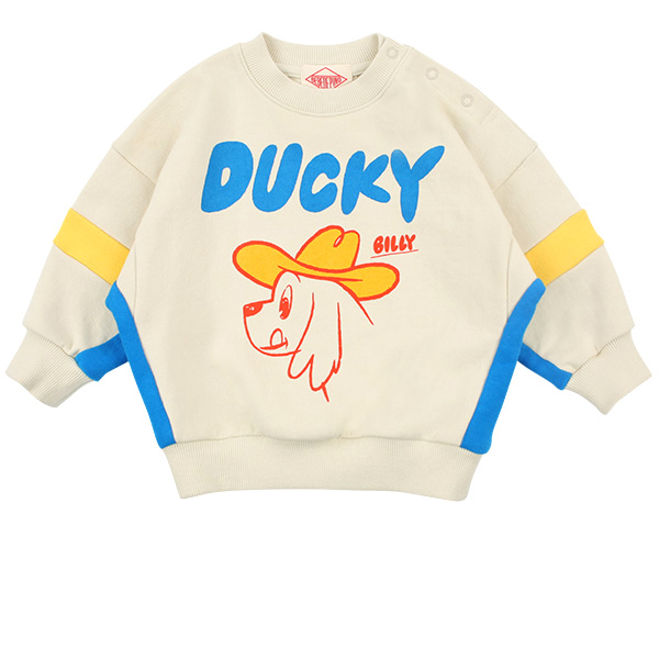 Ducky baby colorblock loose fit sweatshirt  NEW SPRING