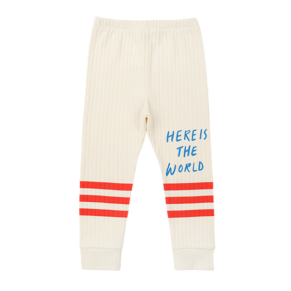 Lettering stripe ribbed leggings  NEW SPRING