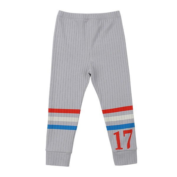 Number 17 stripe ribbed leggings  NEW SPRING