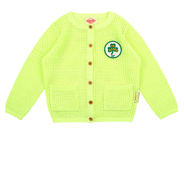 Clover neon yellow cardigan  NEW SPRING