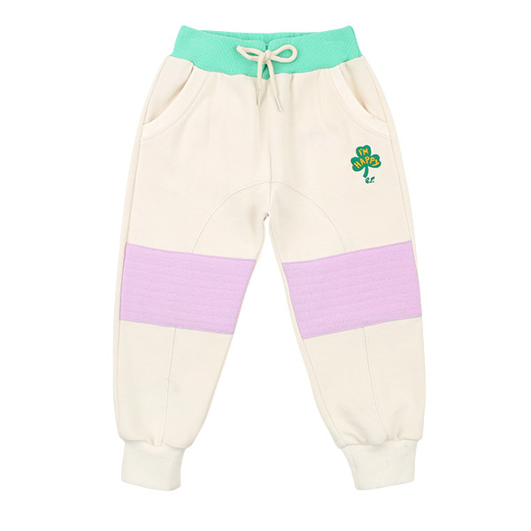 Clover multi color patch sweat pants  NEW SPRING