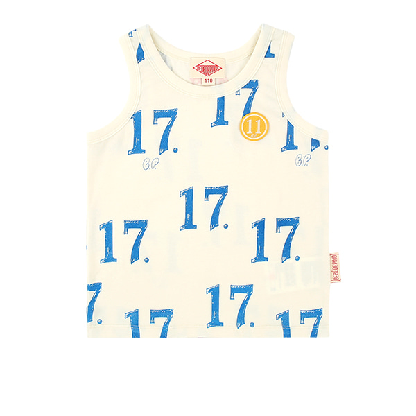 All over No.17 tank top  NEW SUMMER