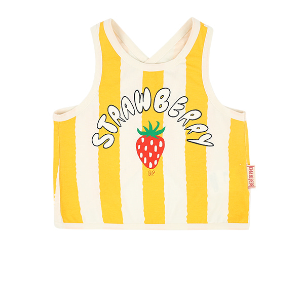 Strawberry baby Striped cross back tank top  NEW SUMMER