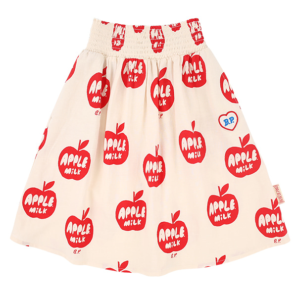 All over apple milk smocking long skirt  NEW SUMMER
