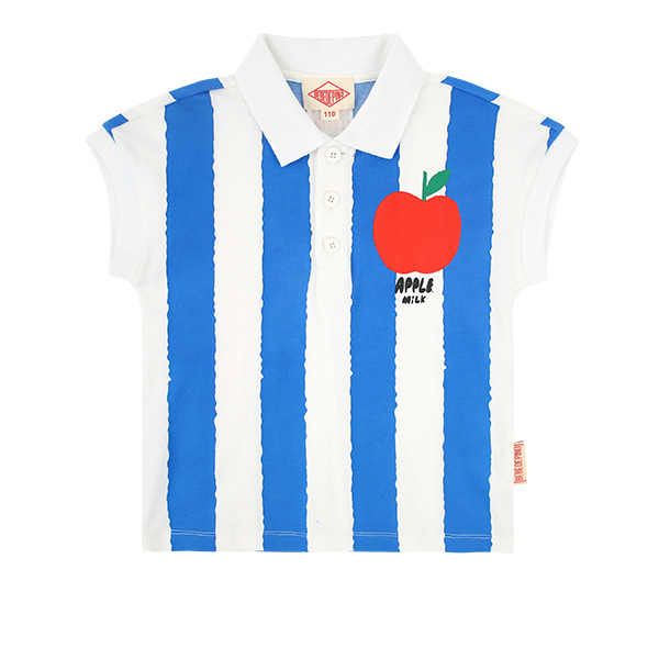 Apple milk vertical stripe polo shirts  NEW SUMMER