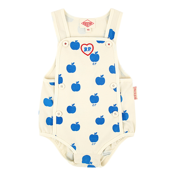 All over apple baby jersey romper  NEW SUMMER