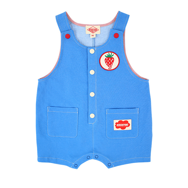 Strawberry baby button up pigment dungaree  NEW SUMMER