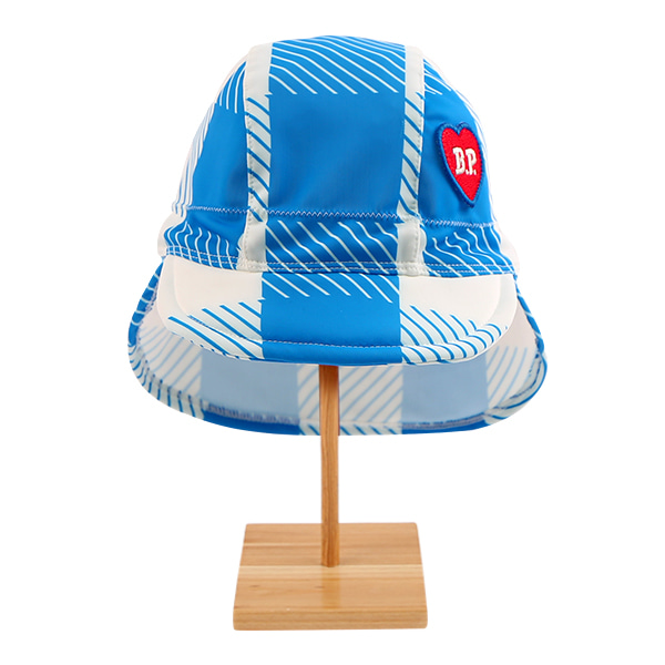 All over blue shepherd check swim hat  NEW SUMMER